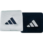 Adidas Interval Small Tennis Wristbands (Navy & White) - Tennis Apparel