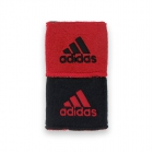 Adidas Interval Reversible Wristband-Small (Black/University Red) -