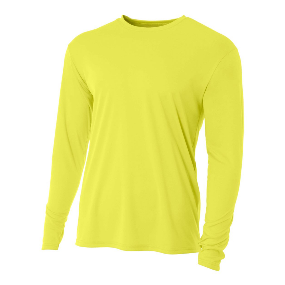 A4 Men's Performance Long Sleeve Crew (Safety Yellow)