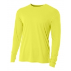 A4 Men's Performance Long Sleeve Crew (Safety Yellow) - A4 Men's Long-Sleeve Tennis Shirts
