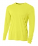 A4 Men's Performance Long Sleeve Crew (Safety Yellow) - A4
