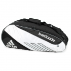 Adidas Barricade III Tour 6 Pack Tennis Bag (Black/ White) - Tennis Bag Brands