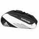 Adidas Barricade III Tour 6 Pack Tennis Bag (Black/ White) - Adidas Barricade III Tennis Bags