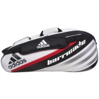 Adidas Barricade IV 6 Pack Tennis Bag (Blk/ Wht/ Red) - 6 Racquet Tennis Bags