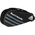 Adidas Barricade IV 3 Pack Tennis Bag (Black/ Grey/ White) - 3 Racquet Tennis Bags