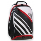 Adidas Barricade IV Tour Racquet Backpack (Black/ White/ Red) - Tennis Racquet Bags