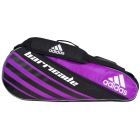 Adidas Barricade IV 3 Pack Tennis Bag (Pink/ Black/ White) - Tennis Racquet Bags