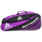 Adidas Barricade IV 6 Pack Tennis Bag (Pink/ Black/ White) - Tennis Racquet Bags