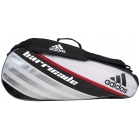 Adidas Barricade IV 3 Pack Tennis Bag (Blk/ Wht/ Red) - Tennis Racquet Bags