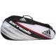 Adidas Barricade IV 3 Pack Tennis Bag (Blk/ Wht/ Red) - Adidas Tennis Bags