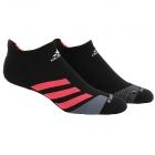 Adidas Unisex Traxion No Show Tennis Socks, Black/Shock Red -