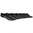 Adidas Youth Cushioned No Show Socks (6-Pair), Black/Black - Onix Marl/Light Onix/Onix -