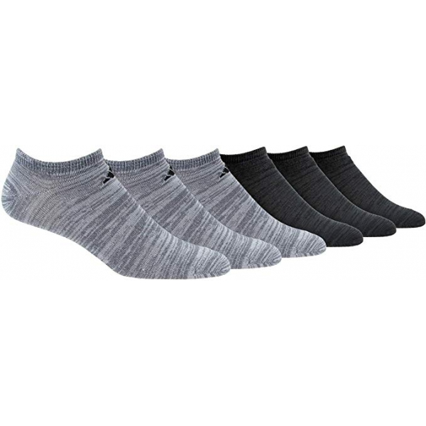 Adidas Men's Superlite Low Cut Socks, Onix/Black (6-Pair)