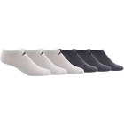 Adidas Men's Superlite Low Cut Socks, White/Black (6-Pair) - Adidas Tennis Socks