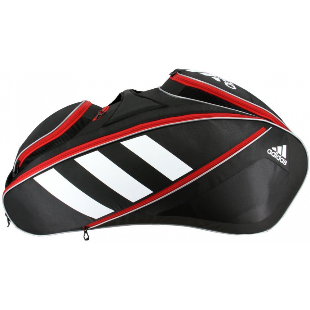 Adidas Tour 12 Racquet Tennis Bag (Black/White/Scarlet)