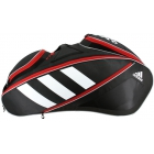 Adidas Tour 12 Racquet Tennis Bag (Black/White/Scarlet) -