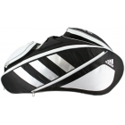 Adidas Tour 12 Racquet Tennis Bag (Black/White/Silver) -