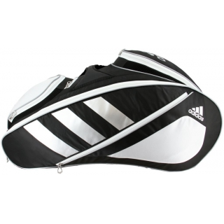 Adidas Tour 12 Racquet Tennis Bag (Black/White/Silver)