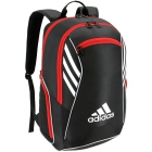 Adidas Tour Tennis Racquet Backpack (Black/White/Scarlet) - Tennis Backpacks