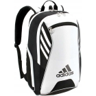 Adidas Tour Tennis Racquet Backpack (Black/White/Silver) -