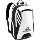 Adidas Tour Tennis Racquet Backpack (Black/White/Silver) - Tennis Backpacks