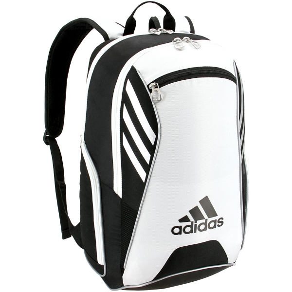 Adidas Tour Tennis Racquet Backpack (Black/White/Silver)