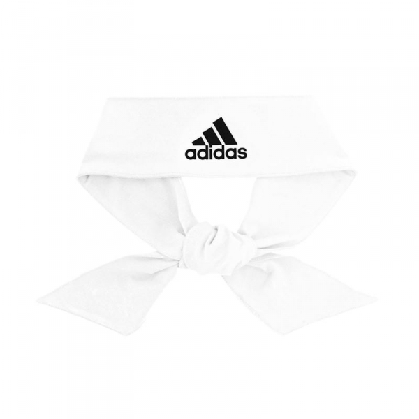 Adidas Alphaskin Tie Headband (White/Black)