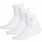Adidas Women's Cushioned II 3-Pack Quarter Socks(White) -