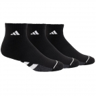 Adidas Men's Cushioned Quarter 3-Pack Tennis Socks (White/Aluminum 2/Black) -