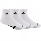 Adidas Men's Cushioned Quarter 3-Pack Tennis Socks (White/Black) -