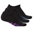 Adidas Women's Cushioned No Show Socks (3-Pair) Black/Shock Purple -