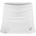 Babolat Girls Compete Tennis Skirt w/Built-in Shorts and Performance Polyester (White/White) - Girl's Bottoms