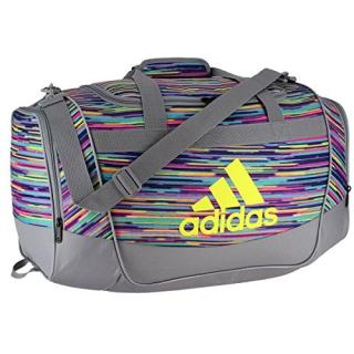 6c49645d0e Adidas Defender II Small Duffel Bag (Skyler Shock Pink Grey Shock Slime  Black)