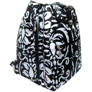 Jet Paisley Black & White Cooljet Tennis Bag