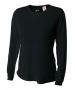 A4 Women's Performance Long Sleeve Crew (Black) - A4 Women's Long-Sleeve Shirts Tennis Apparel