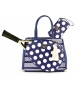 Court Couture Karisa Vintage Tennis Bag (Navy Stripes & Dots) - Tennis Tote Bags