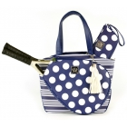 Court Couture Cassanova Tennis Bag (Stripes & Dots Navy) - Court Couture