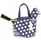Court Couture Cassanova Tennis Bag (Stripes & Dots Navy) - Designer Tennis Bags - Luxury Fabrics and Ultimate Functionality