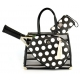 Court Couture Karisa Vintage Tennis Bag (Black Stripes & Dots) - Designer Tennis Bags - Luxury Fabrics and Ultimate Functionality