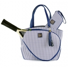 Court Couture Cassanova Tennis Bag (Saphire Houndstooth) - Court Couture