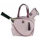 Court Couture Cassanova Tennis Bag (Merlot Houndstooth) - Court Couture