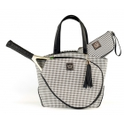 Court Couture Cassanova Tennis Bag (Black Houndstooth) - Court Couture