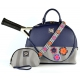 Court Couture Ella Court Bag (Midnight) - Designer Tennis Bags - Luxury Fabrics and Ultimate Functionality