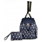Court Couture Hampton Tennis Backpack (Midnight Printed) - Court Couture Tennis Bags
