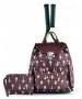 Court Couture Hampton Tennis Backpack (Merlot Printed) - Designer Tennis Backpacks