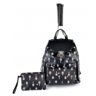 Court Couture Hampton Tennis Backpack (Onyx Printed) - Court Couture Tennis Bags