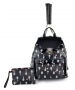Court Couture Hampton Tennis Backpack (Onyx Printed) - Designer Tennis Backpacks