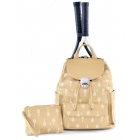 Court Couture Hampton Tennis Backpack (Cafe Au Lait Printed) - Court Couture Tennis Bags