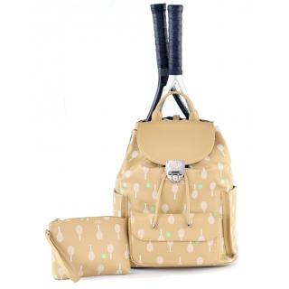 Court Couture Hampton Backpack (Cafe Au Lait Printed)