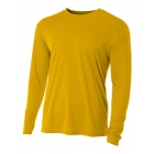 A4 Men's Performance Long Sleeve Crew (Gold) - A4 Men's Long-Sleeve Tennis Shirts